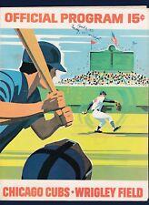 Chicago Cubs vs St. Louis Cardinals 1971 baseball scorecard Steve Carlton win