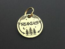 Personalized Dog Tag, Solid Brass Pet Tag, Custom Dog Tag, Pet ID Tag Handmade