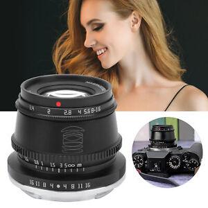 TTArtisan 35mm F1.4 APS-C Manual Focus Lens For Fuji Sony Canon M43 Leica Camera