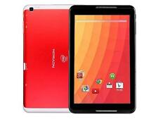 """Nuvision 8"""" Atom Z3735G Quad-Core 1.33GHz 1GB 32GB Android 4.4 WiFi Tablet - Red"""