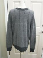 Men's J CREW S Gray Lined Knit Wool Long Sleeve Pull Over Crew Neck Sweater Top