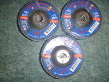15 X FLAP DISCS 100X16mm Z80 GRIT BY ABRACS ZIRCONIUM INOX