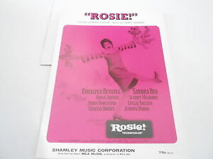 1967 vintage NOS sheet music - ROSIE - ROSALIND RUSSELL