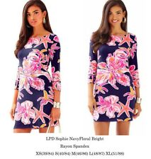 New Authentic Lilly Pulitzer UPF 50+ Sophie Dress Bright Navy Size XXS 2XS