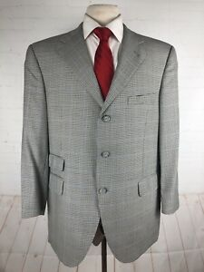 Coppley Men's Gray Plaid Wool Blazer 42R $2,395
