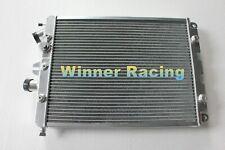Fit Ferrari 360 3.6L w/ Sensor hole 2000-2006 Full aluminum radiator 2 Rows