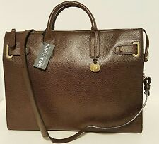 Brahmin Large Business Tote-Laptop Bag Brown NEPAL Leather UNISEX large top zip