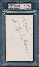 Steve Eisenhauer Navy Signed Index Card Autograph Auto PSA/DNA *86218