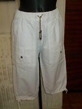 Pantalon court pantacourt coton taille élastique BLANC DU NIL T.2 38/40 19PE32