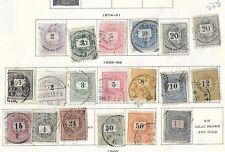 Hungary stamp lot 1874-1899