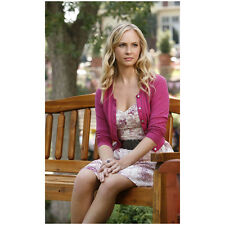 The Vampire Diaires Candice King as Caroline Sitting on Bench 8 x 10 inch Photo