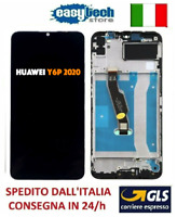 Touch Screen LCD ORIGINALE Display Schermo  Frame HUAWEI Y6P 2020 MED-LX9 Nero