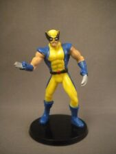 """Rare Greenbrier Marvel X-Men WOLVERINE 2 5/8"""" PVC Statue Figure Yellow Blue Suit"""