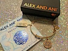 Authentic Alex and Ani Snowflake bracelet w/ crystals rg gold New