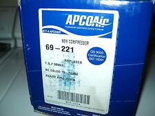 APCO AIR AC COMPRESSOR W/CLUTCH ASSY NEW 69-221 CADILLAC