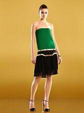 $3900 NEW Authentic Gucci Runway Silk Strapless Multi Pleated Dress sz 40 289710
