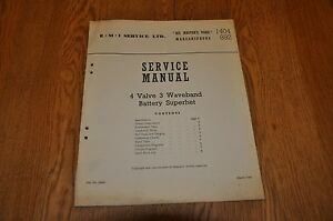 Marconiphone Model 892 His Masters Voice HMV 1404 Genuine Service Manual