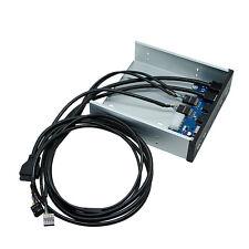 "2 Port USB 3.0 2 Port USB 2.0 HUB HD Audio 5.25"" PC Floppy Bay Front Panel 19Pin"