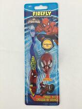 Spiderman Toothbrush Marvel Comic Character Super Hero Travel Kit Blue 2 Pc