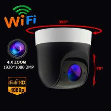 Wireless WiFi 4X Zoom PTZ IP Camera Pan Tilt Sony CMOS HD 1080P 2MP Audio ONVIF