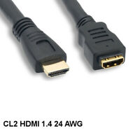 Kentek 3' CL2 Rated HighSpeed HDMI 1.4 Extension Cable 4K 3D Male/Female HDTV