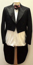 GREAT VINTAGE J DEGE & SONS LTD SAVILE ROW TAILCOAT BLACK SIZE 36 1940's