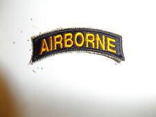 b0124 WW 2 US Army Airborne tab yellow on black Parachute Infantry PIR A5A6