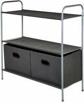 AmazonBasics Closet Storage Organizer with Bins and Shelving