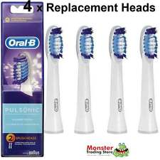 4 X ORAL B PULSONIC ELECTRIC TOOTHBRUSH REPLACEMENT SPARE BRUSH HEADS GENUINE