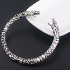 Unisex Antik plata Wolf armspange vikingo Celtica dragón indoeuropeos brazalete nuevo