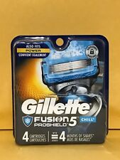 Gillette Fusion5 PROSHIELD CHILL Refill 4 Cartridges*Original Package* #010