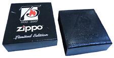 ZIPPO 75 YEARS BOX FOR LIGHTER UNUSED RARE