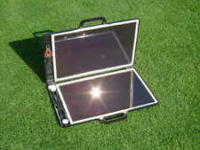 Portable 13W Briefcase Solar Panel/Battery Charger Kit-12V-Car/Caravan/Motorhome