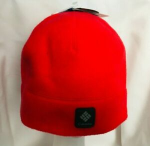NEW Columbia Agent Heat Beanie Hat RED