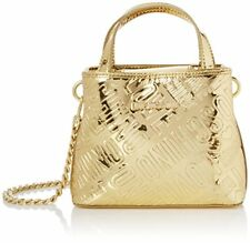 Love Moschino Borsa Embossed Patent PU Oro - Borse Baguette Donna Gold 15x1...