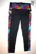 Womens Athleta NWT New Warm Colorburst Power Lift Tight Pants Winter L Blue Red