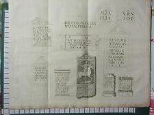 C1790 gran huella de antigua ~ Romano tumbas inscripciones América Piedra Mampostería