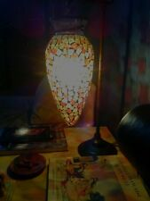 Moroccan style Lantern Table lamp Mosaic Stained Glass