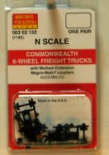 NEW Micro-Trains 00302132 Commonwealth 6 Wheel Freight Trucks w/Med Ext Couplers