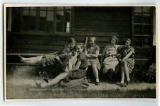 1930s/1940 British GIRL SCOUTS / GIRL GUIDES some in uniform photo postcard