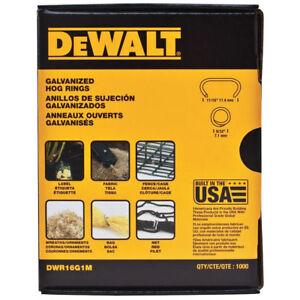"Genuine DeWalt DWR16G1M 1000pk 11/16"" Hog Ring Fasteners New NOT GENERIC"
