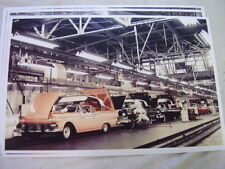 1957 FORD RETRACTABLE  ASSEMBLY LINE  COLOR   11 X 17  PHOTO  PICTURE