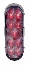 """Maxxima 6"""" Oval Red Clear Lens LED Stop Turn Tail Light Truck Trailer"""