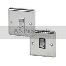 Satin Chrome 1-Gang Light Switche Home Electrical Fittings