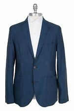 Lorenzini Cotton Sport Coat Unconstructed Dark Blue Size: M