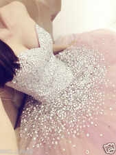 Custom Made Sparkle Quinceanera Dress Pink Ball Gown Long Formal PartyProm Dress