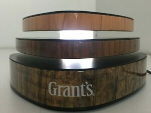 Grants Blended Scotch Whisky Advertising Collectable Wooden LED Bottle Stand