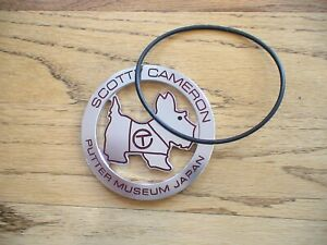 Scotty Cameron Titleist Japan Museum Circle T Scotty Dog Bag Tag New Rare PGA