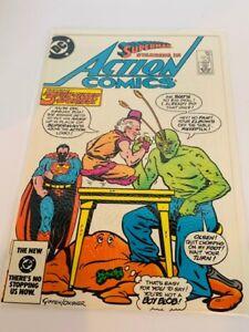 Action Comics Book vtg DC Superman Clark Kent Kal El #563 Mxyzptlk 563 boy blob
