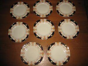 8 VINTAGE MYOTT & SON STAFFORDSHIRE SIDE PLATES DERBY PATTERN # 7773 c 1930's